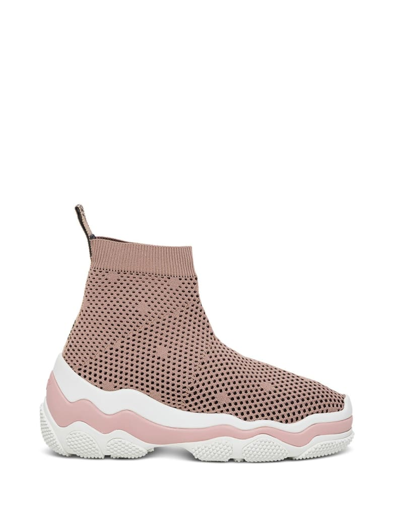 RED Valentino Stretch Pois D'esprit Knit Sneakers - Pink