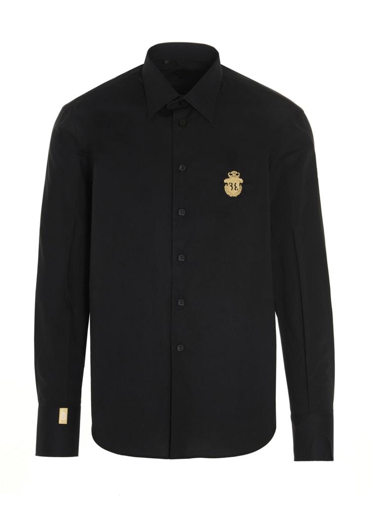 Billionaire 'milano Crest Logo' Shirt - Black