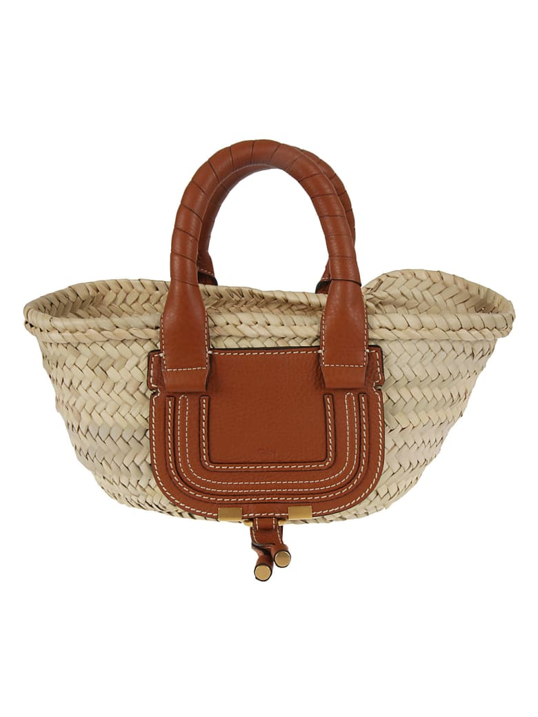 Chloé Marcie Weaved Tote - Tan