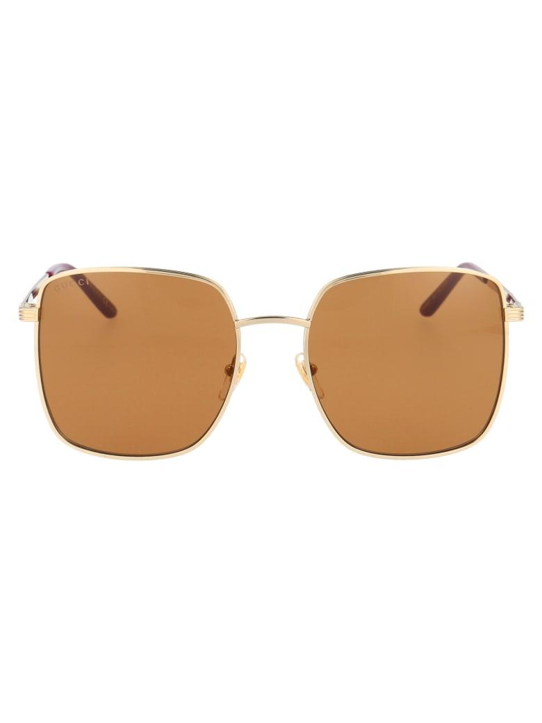Gucci Gg0802s Sunglasses - 002 GOLD GOLD BROWN
