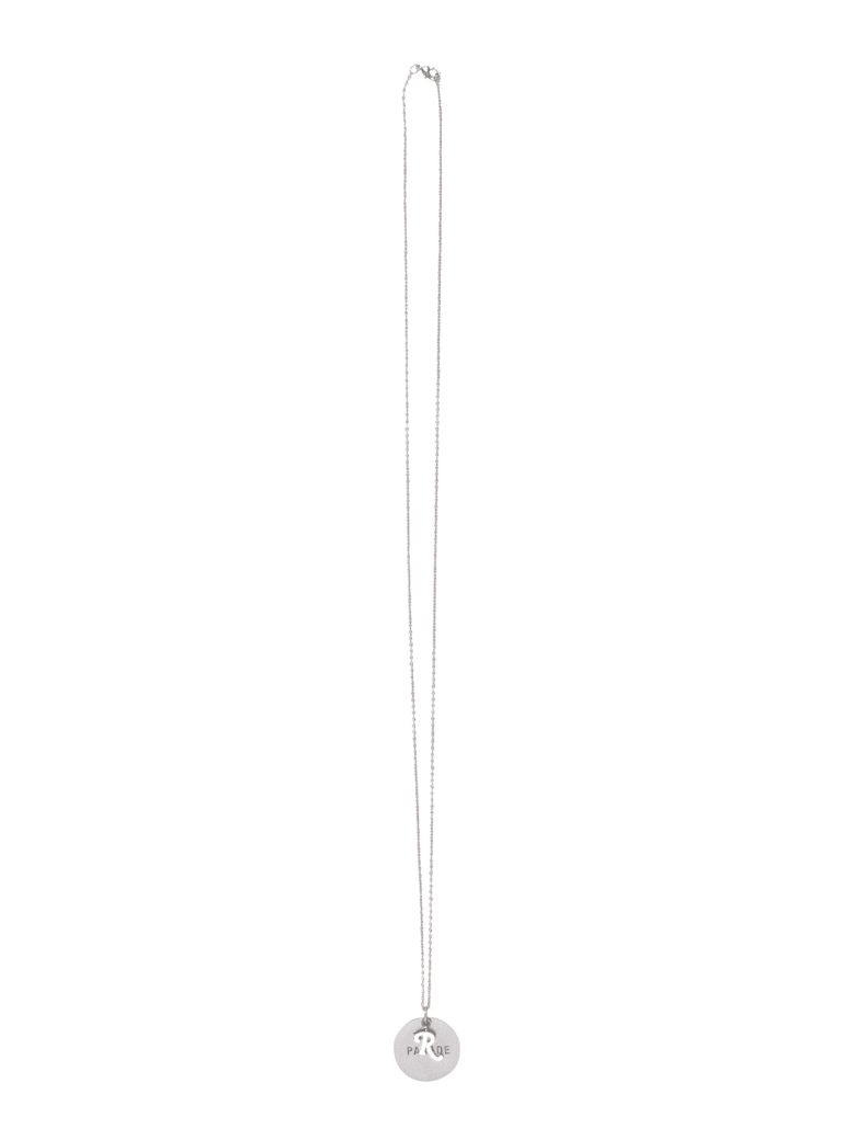 Raf Simons Rs Parade Medallion Necklace - ARGENTO