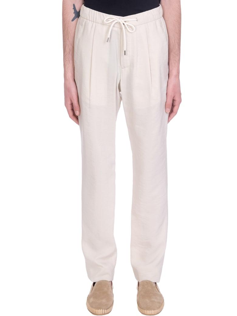 Giorgio Armani Pants In White Silk - white