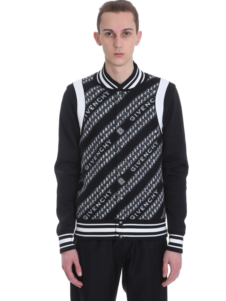Givenchy Bomber In Black Wool - black