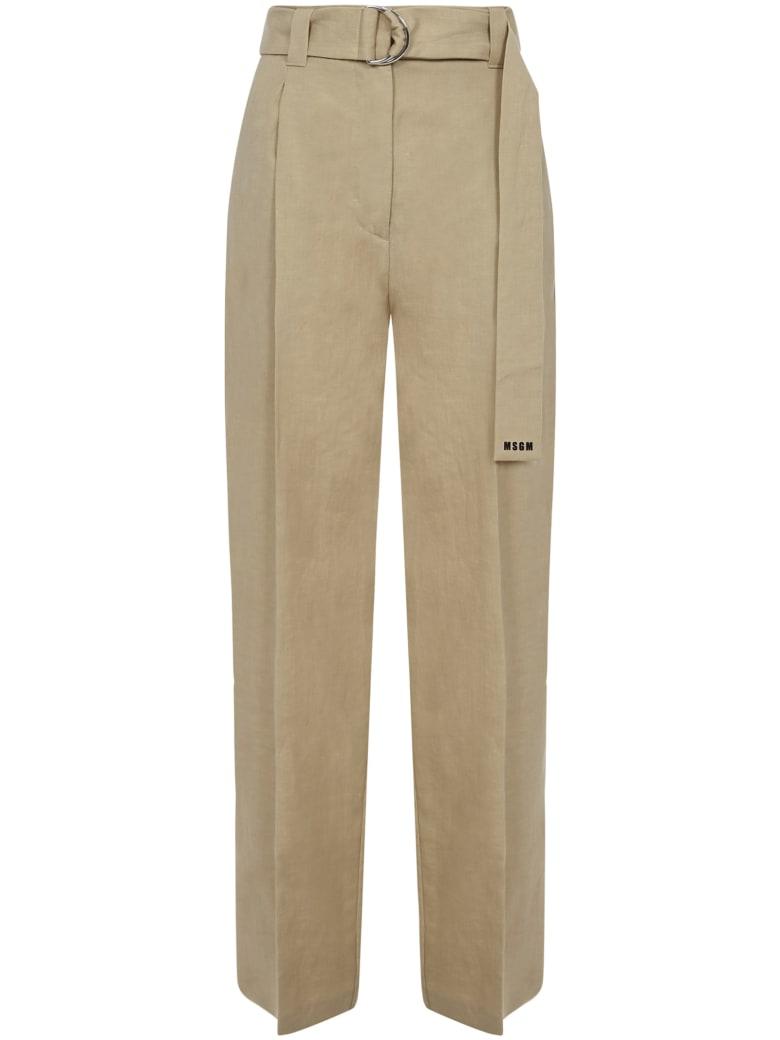 MSGM Trousers - Beige
