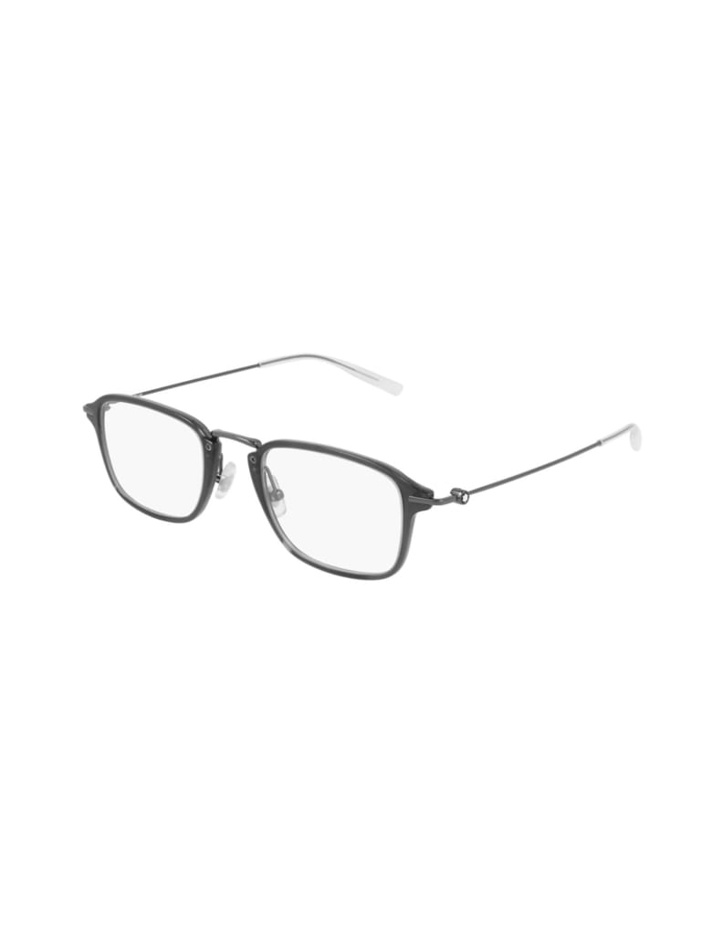 Montblanc MB0159O Eyewear - Grey Ruthenium Transp