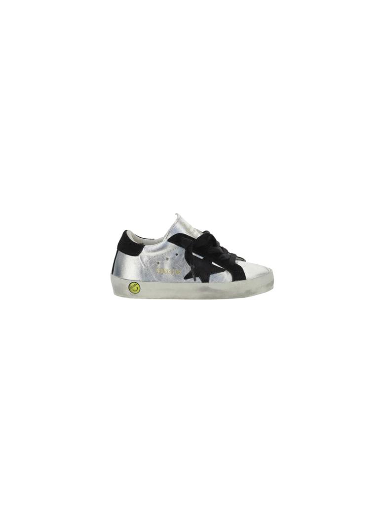 Golden Goose Superstar Sneakers For Girl - Silver/black