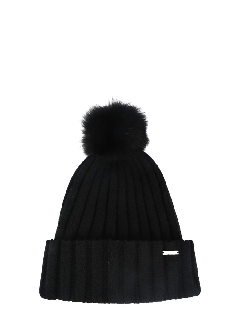 Woolrich Knitted Hat - NERO