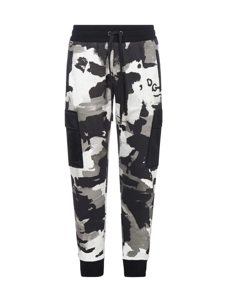 Dolce & Gabbana Camouflage Print Cotton Jogging Pants - Camouflage 01 f mist