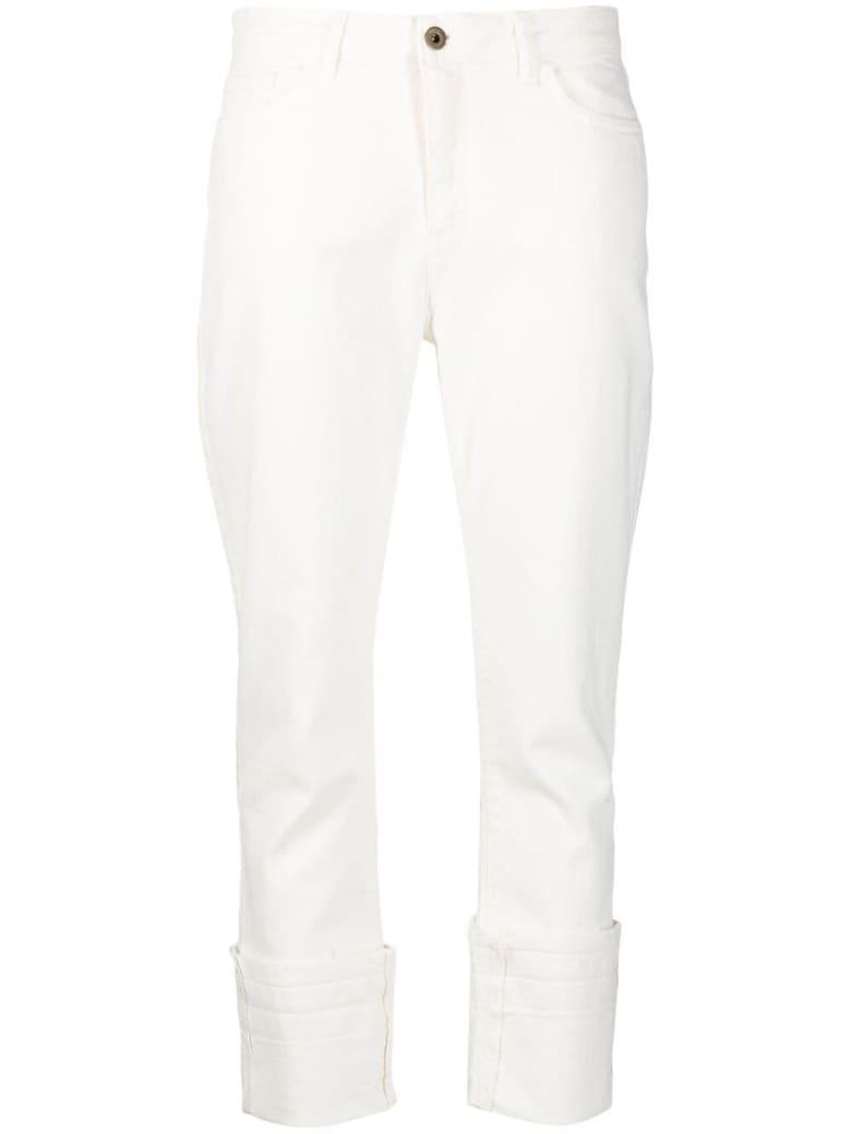 Merci White Crop Jeans - White