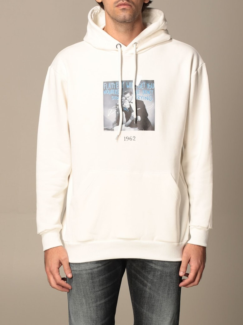 Throwback Sweatshirt Throwback Cotton Sweatshirt With 1962 Print - White