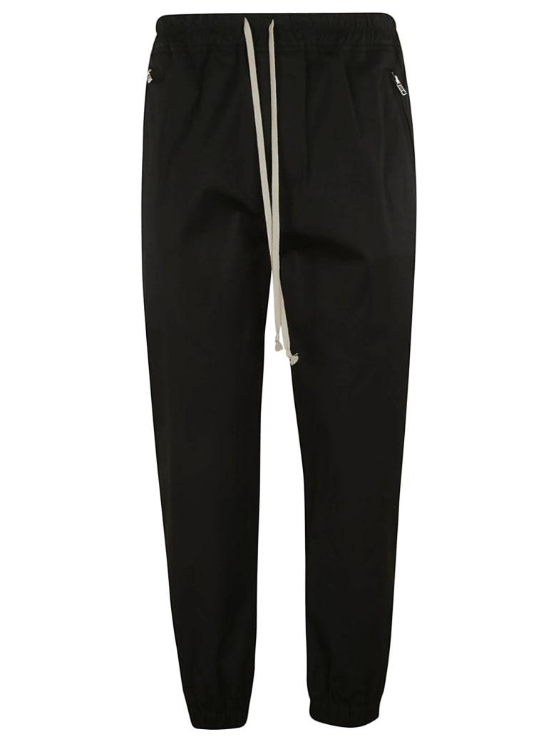 Rick Owens Cropped Track Pants - Black