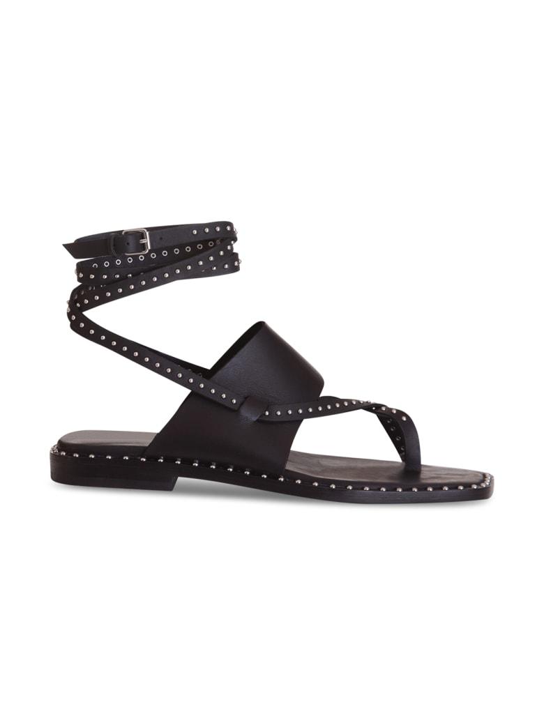 Ash Medusa Studded Leather Sandals - NERO