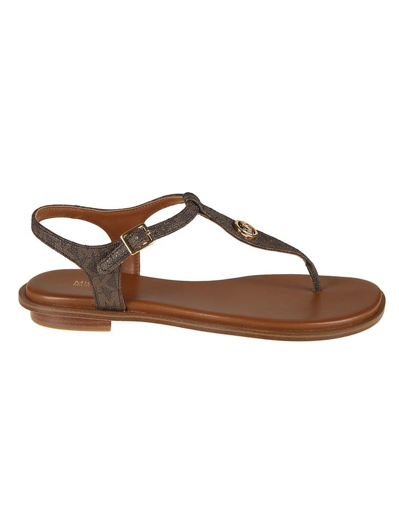 Michael Kors Mallory Thong Flat Sandals - Brown