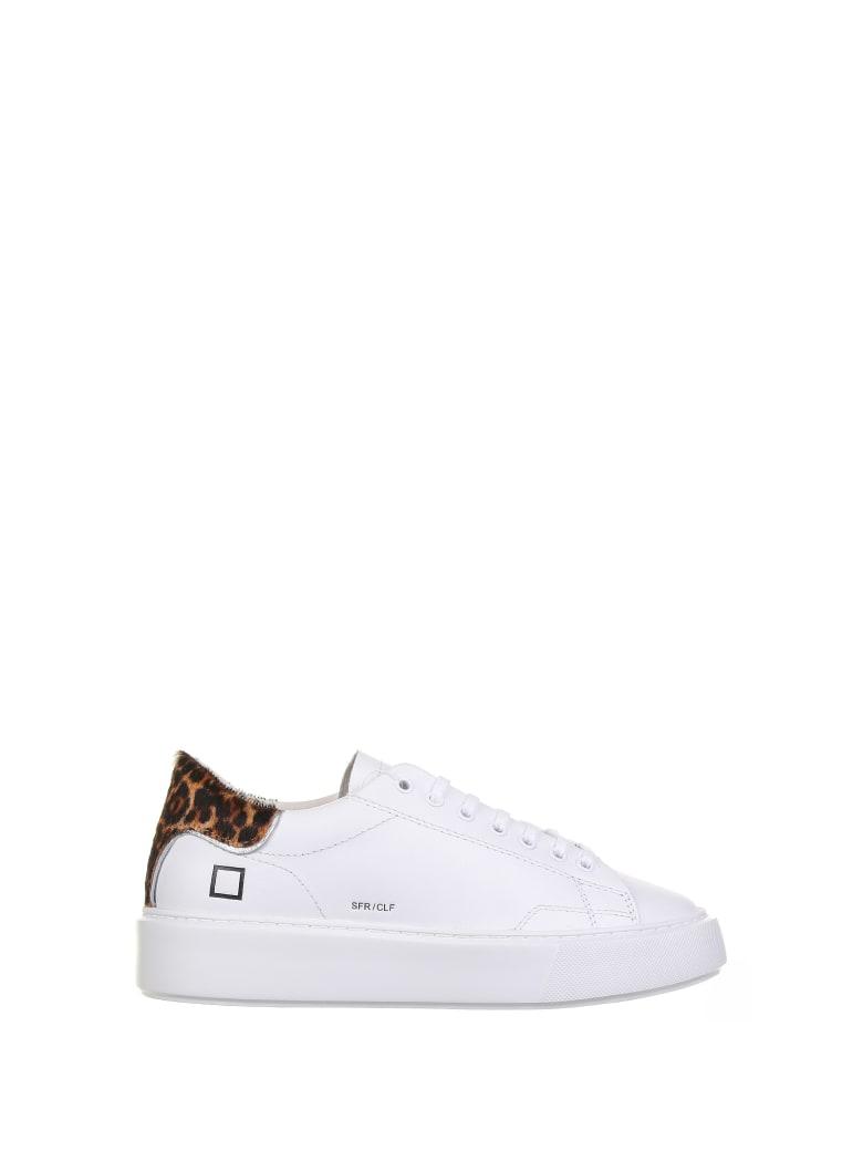 D.A.T.E. Sfera White Sneaker - WHITE LEOPARD