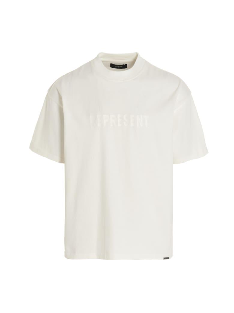 REPRESENT 'embroidered Logo' T-shirt - White