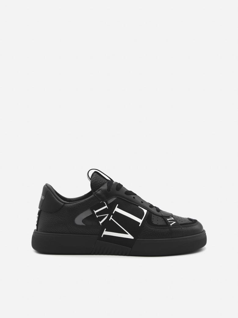Valentino Garavani Vl7n Low-top Sneakers In Leather - Black