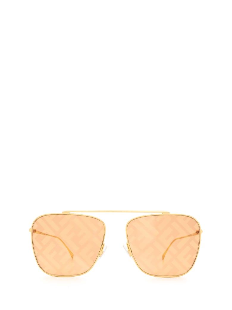 Fendi Fendi Ff 0406/s Gold Sunglasses - Gold