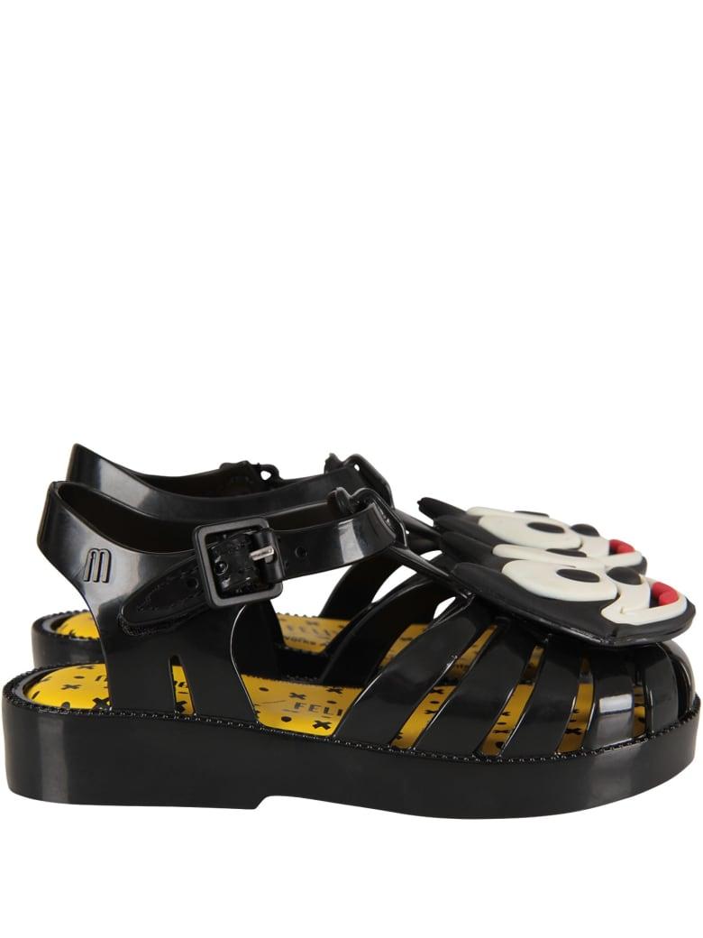 Melissa Black Sandals With Felix For Boy - Black