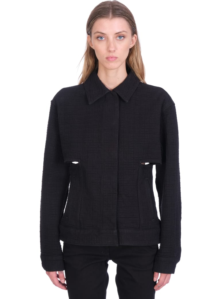 Givenchy Casual Jacket In Black Cotton - black