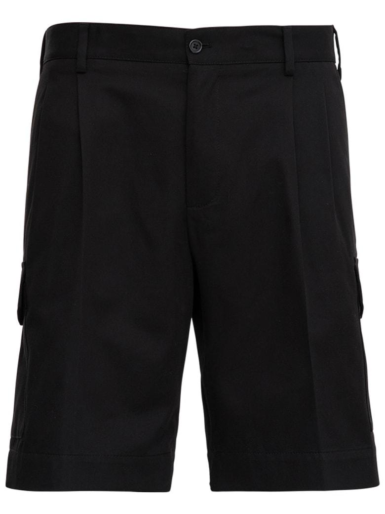 Dolce & Gabbana Five Pockets Bermuda Shorts In Black Jersey - Black