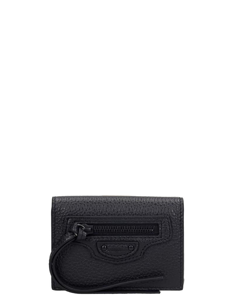 Balenciaga Neo Classic Wallet In Black Leather - black