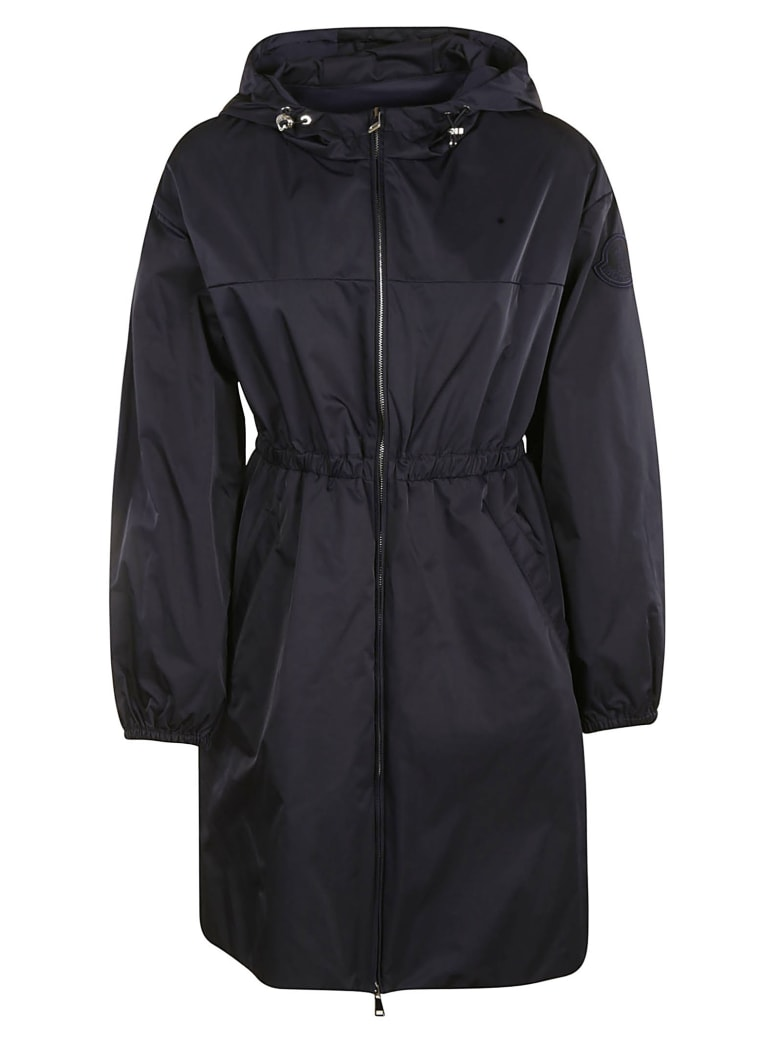 Moncler Fitted Waist Hooded Jacket - Blue
