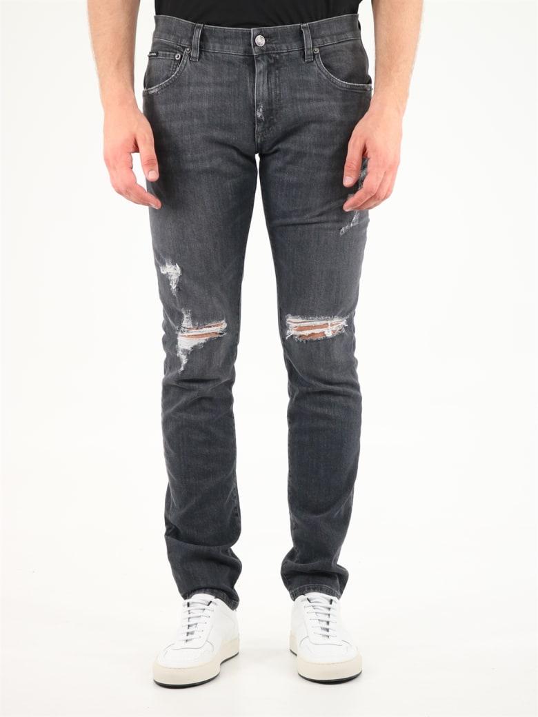 Dolce & Gabbana Skinny Ripped Jeans - S9001