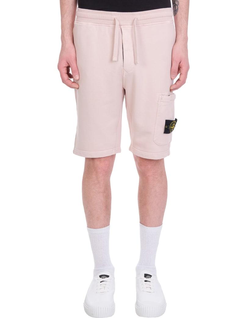 Stone Island Shorts In Rose-pink Cotton - rose-pink