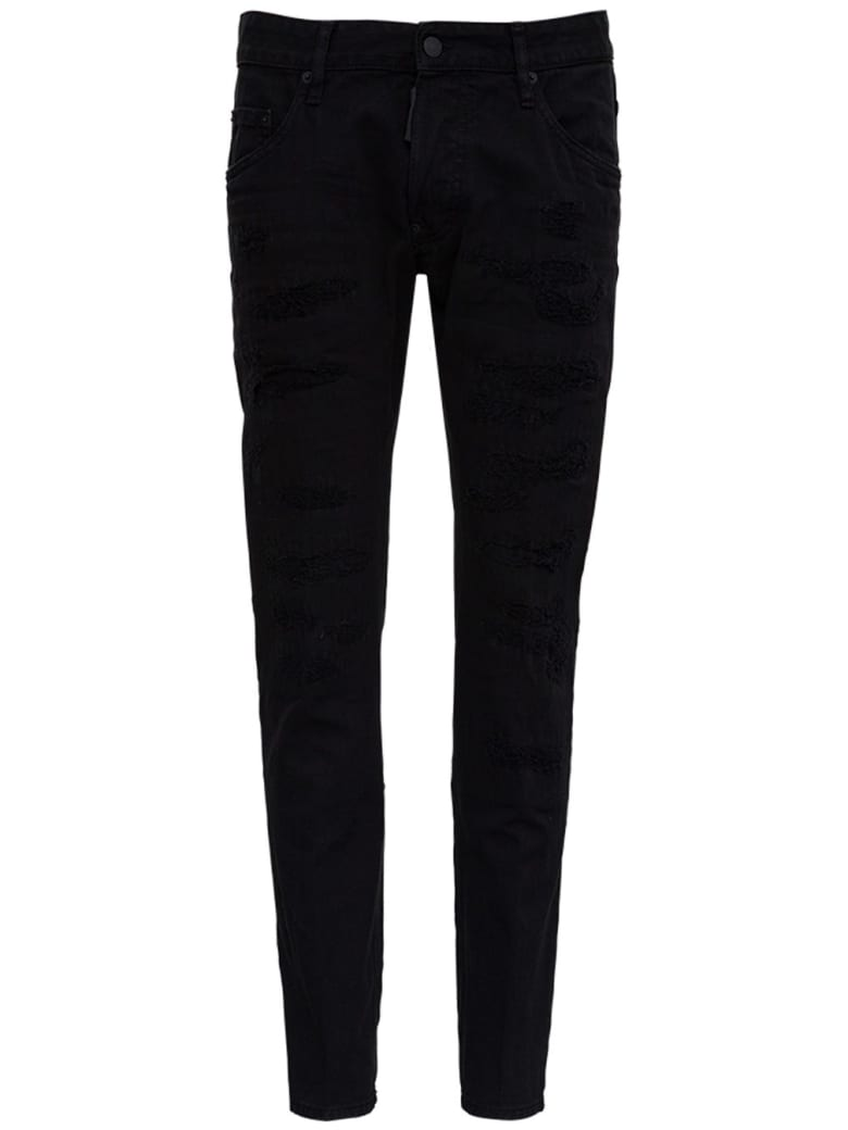 Dsquared2 Five Pockets Black Denim Jeans - Black