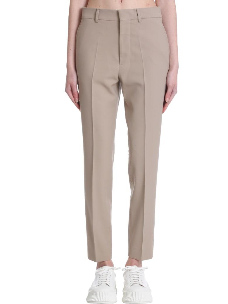 Ami Alexandre Mattiussi Pants In Beige Polyester - beige