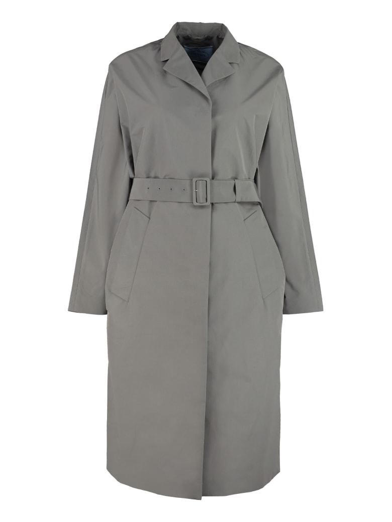 Prada Techno Fabric Trench Coat - grey
