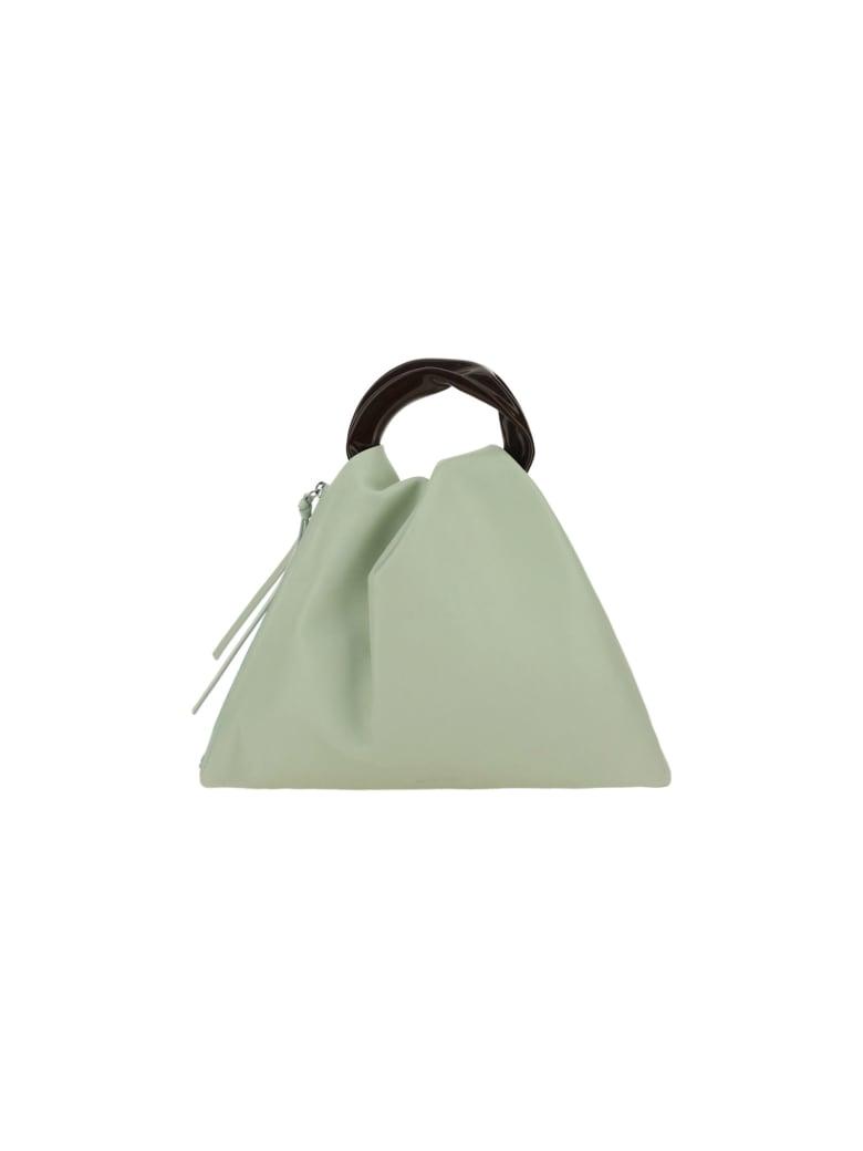 Jil Sander Crush Handbag - Light/pastel green