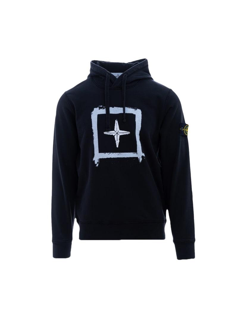 Stone Island Hooded Sweatshirt - Nero
