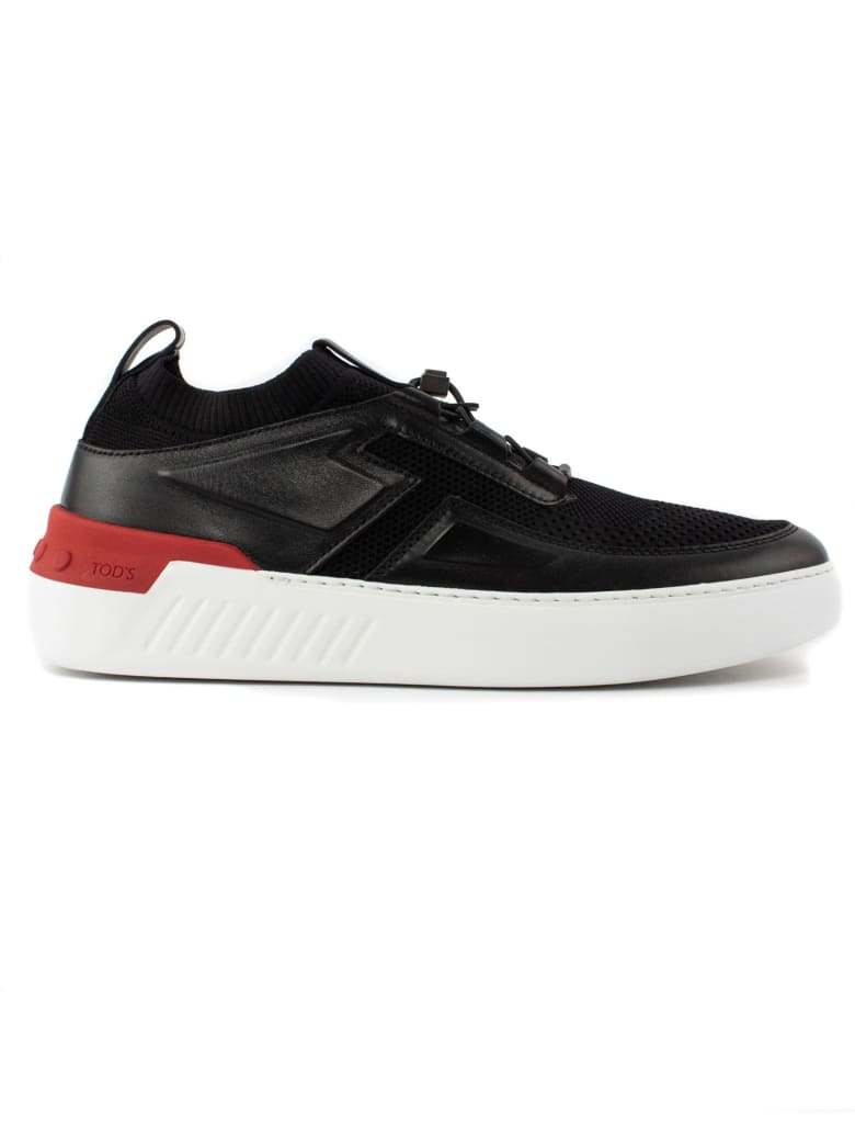 Tod's Black Leather No_code X Sneakers - Nero