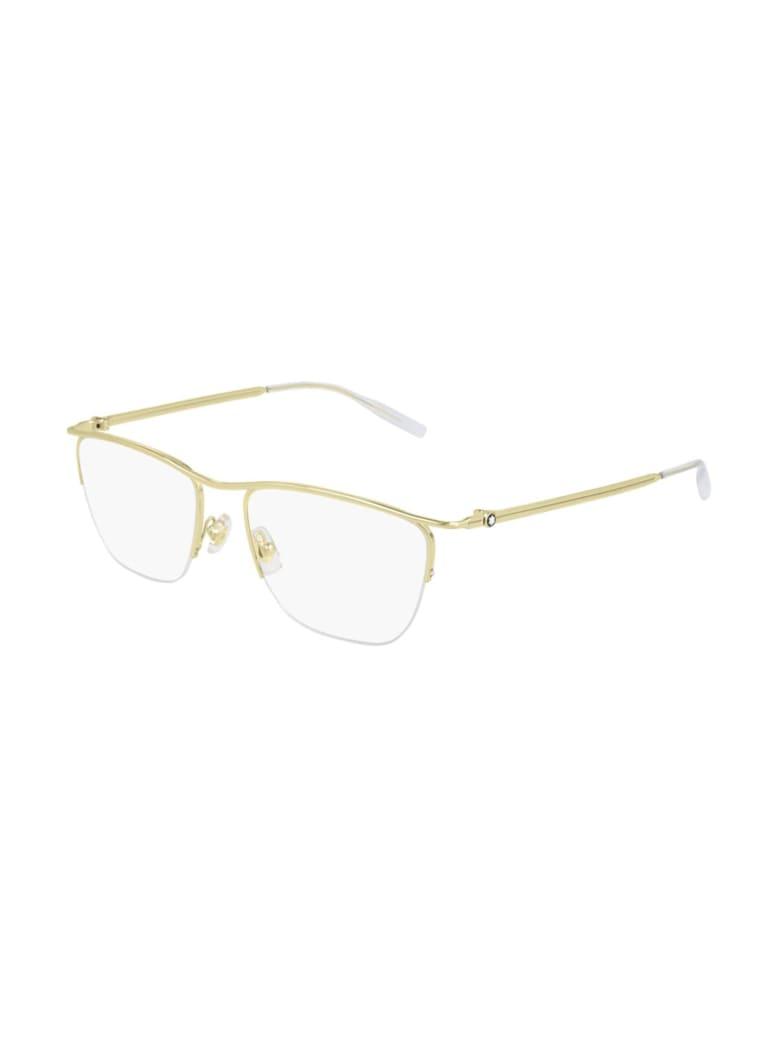 Montblanc MB0170O Eyewear - Gold Gold Transparent
