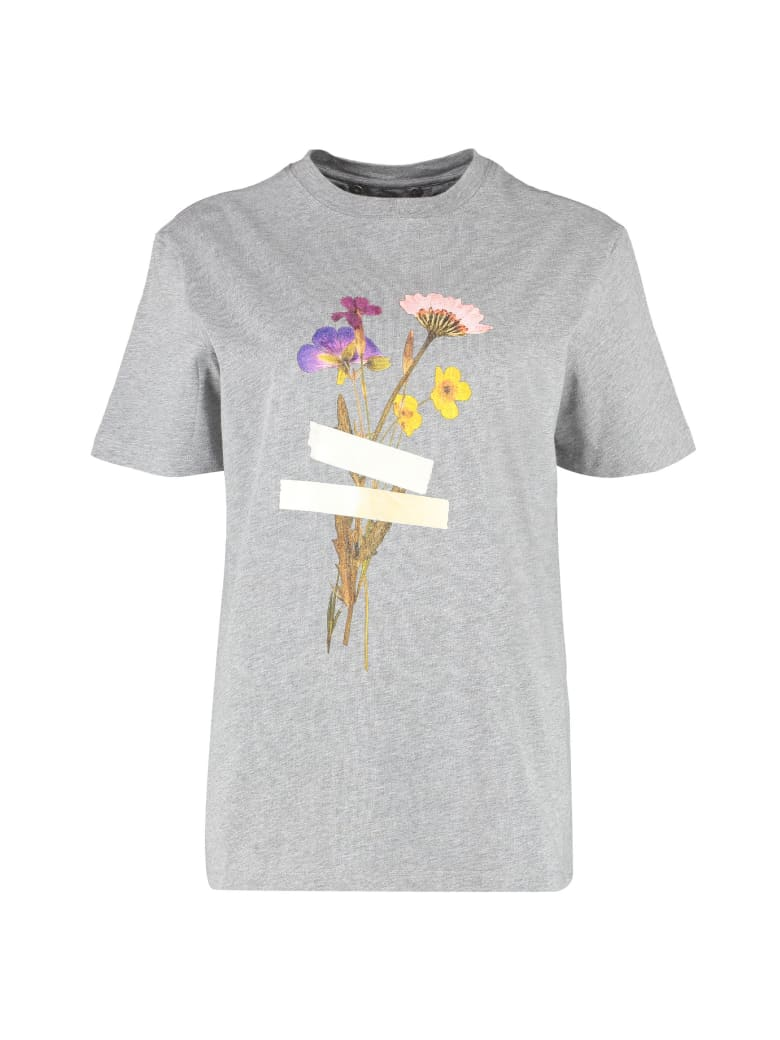 Golden Goose Printed Cotton T-shirt - Dream Maker Collection - grey