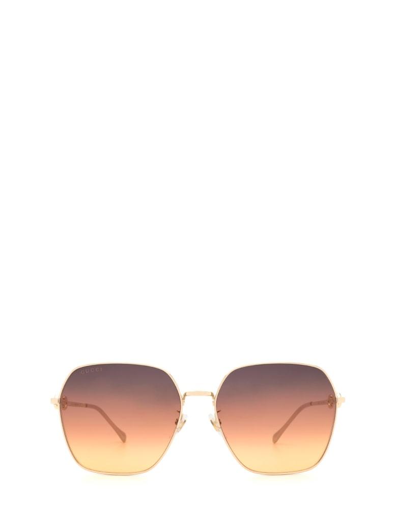 Gucci Gucci Gg0882sa Gold Sunglasses - Gold