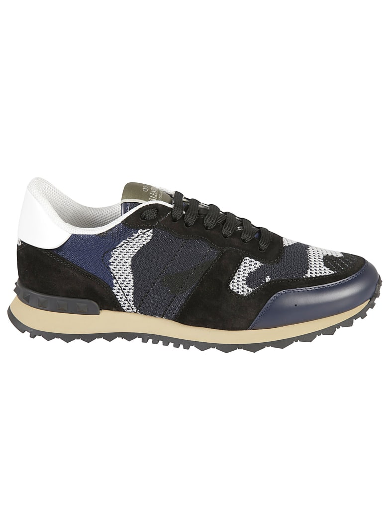 Valentino Garavani Mesh Paneled Sneakers - Blu