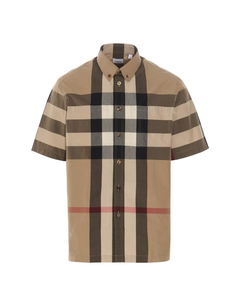Burberry 'themes' Shirt - Beige