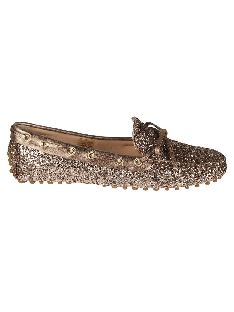 Car Shoe Glitter Applique Loafers - Cammeo