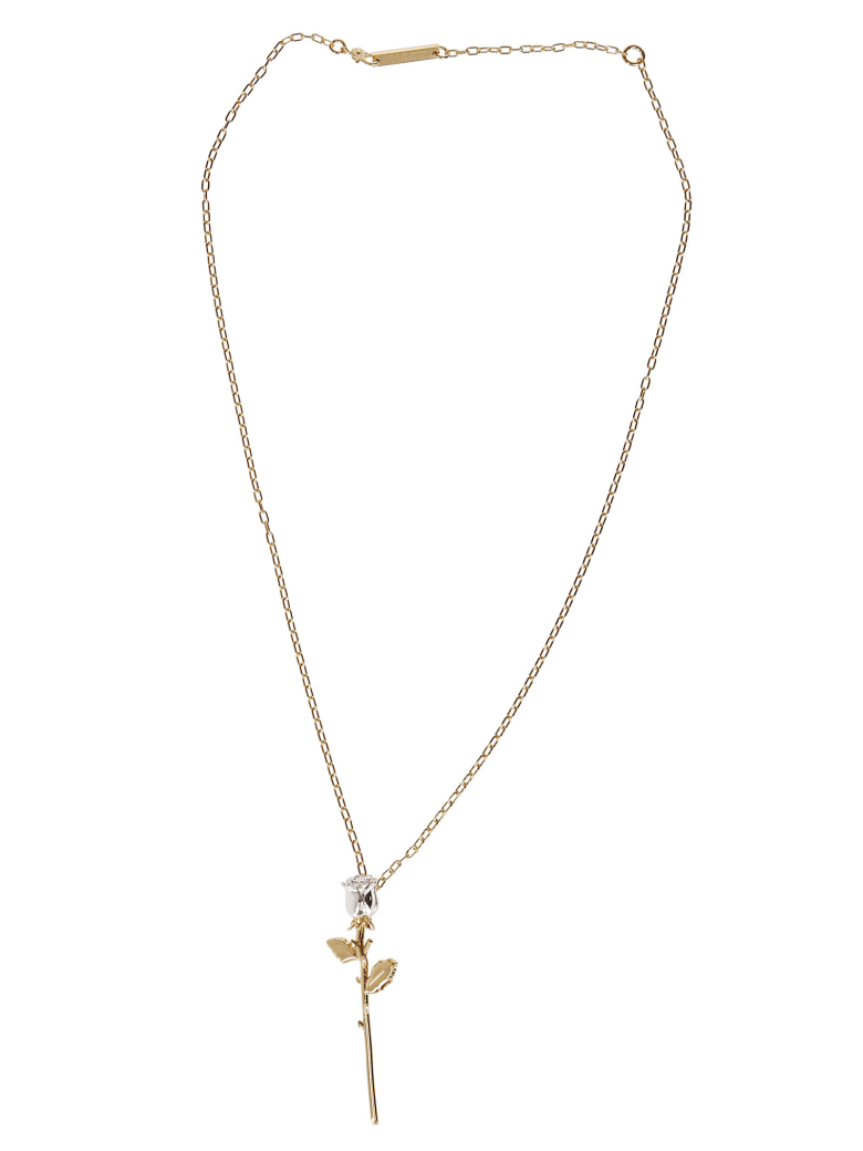 AMBUSH Gold-pleated Silver Rose Necklace - Gold