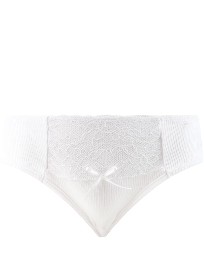 La Perla White Knickers For Girl - White