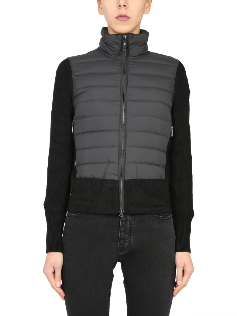 Parajumpers Down Jacket With Knit Details - NERO