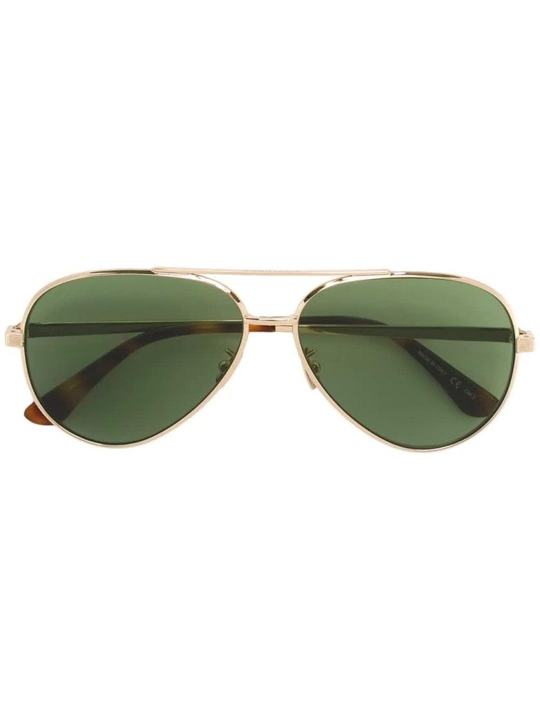 Saint Laurent Golden And Green  Classic 11 Zero Sunglasses - Gold