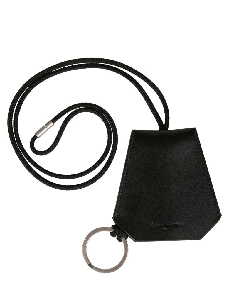 Maison Margiela Crochet Logo Keychain - Black