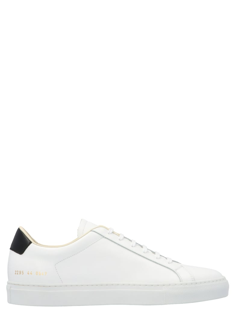 Common Projects 'retro Low' Shoes - Black&White
