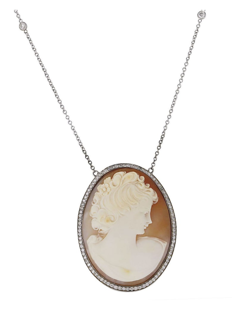 Lo Spazio Jewelry Lo Spazio Cameo Lucente Necklace - Beige