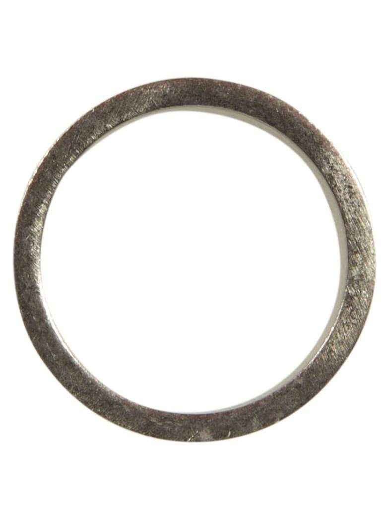 Maison Margiela Logo Stamped Ring - Silver