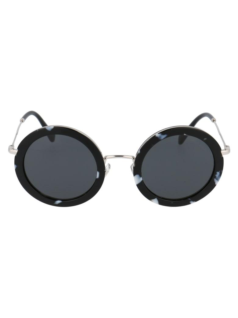 Miu Miu Core Collection Sunglasses - PC75S0 HAVANA BLACK/WHITE