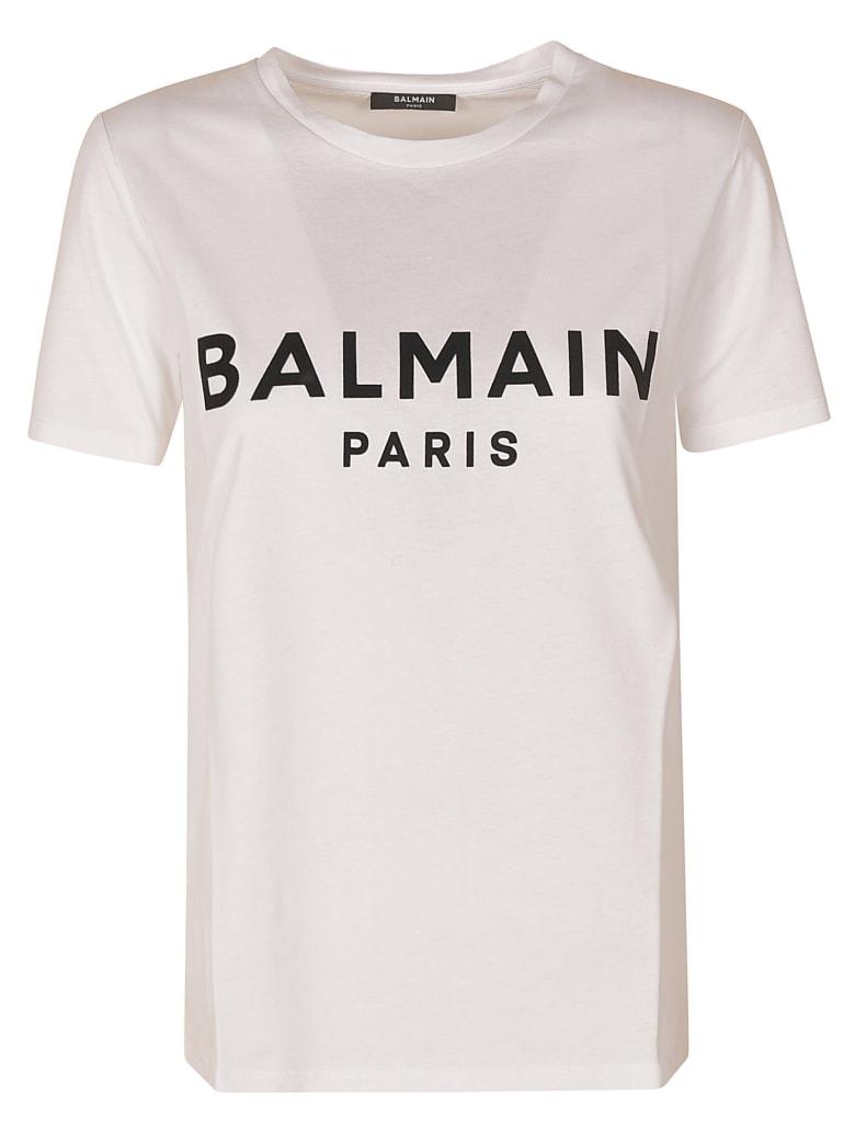 Balmain Regular Logo Print T-shirt - Black